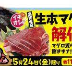 予告 5/24(金)「生本マグロ解体ショー」開催!