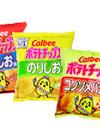 ポテトチップス・うすしお味 コンソメパンチ のりしお 58円(税抜)