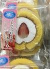 フレッシュいちごのロールケーキ 158円(税抜)