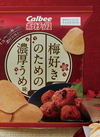 ポテトチップス 梅好きのための濃厚うめ味 173円