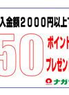 2000円以上ご購入でポイントプレゼント! 50ポイントプレゼント