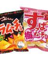 カラムーチョチップス ホットチリ味 すっぱムーチョチップス さっぱり梅味 58円(税抜)