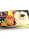 鮭茶飯鶏ハンバーグ弁当 299円(税抜)