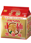 マルちゃん正麺 醤油味 322円(税込)