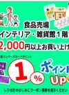 2,000円以上お買い上げで 1%ポイントアップ プレゼント