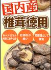 国内産椎茸徳用 998円(税抜)