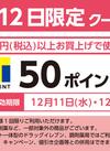 12/11・12限定クーポン!【T50ポイント】 50ポイントプレゼント
