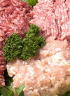 牛豚合挽きミンチ(牛肉70%豚肉30%) 398円(税抜)