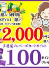 2,000円以上ご購入で100ポイントプレゼント プレゼント