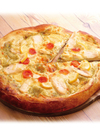 【ベーカリー】ジェノベーゼソースのレモン添えチキンピザ 469円(税抜)
