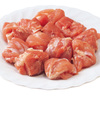 海養鶏もも肉角切り味付(タイ産鶏肉使用) 67円(税抜)