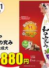 JP和の極み 小粒成犬2.1kg 1,880円