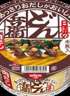 あっさりおだしがおいしいどん兵衛 4種の具材が入った肉だしうどん 88円(税抜)