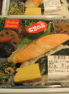 紅鮭と越後大豆使用豆腐ハンバーグ海苔弁当 480円(税抜)