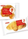 九州仕込みくるみとチーズのパン、メロンdeクロワッサン 88円(税抜)