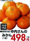 中内さんのみかん 498円(税抜)