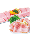 ロースハム、ベーコンスライス各種 98円(税抜)