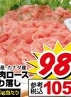 豚肉ロース切り落し 105円(税込)