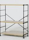 ●ワイヤーウッドシェルフ 3段 66cm幅 8,228円(税込)