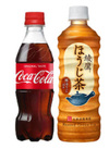 コカ・コーラ(350ml)/綾鷹ほうじ茶(525ml) 69円(税込)