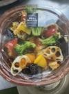 夏野菜とカレイの黒酢サラダ 430円(税込)