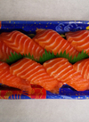生サーモン握り寿司 646円(税込)