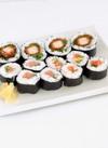 【寿司】海苔巻盛合せ(国産チキンカツ太巻・ねぎとろ・サーモン) 376円(税込)
