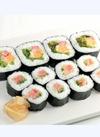 【寿司】海苔巻盛合せ(ツナサラダ太巻・ねぎとろ・サーモン) 321円(税込)