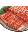 国産豚肉(バラ) ブロック・うす切り 213円(税込)