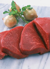 牛肉ステーキ用(モモ)<交雑種> 387円(税込)
