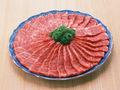 (ますや亭)本日の日替わり特売!牛バラカルビ焼き肉 380円(税抜)