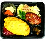 オムライス・ハンバーグ&鶏のからあげ弁当 750円(税抜)