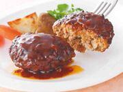 CO-OP あらびき牛肉を使ったハンバーグ●デミグラスソース●和風オニオンソース 278円(税抜)