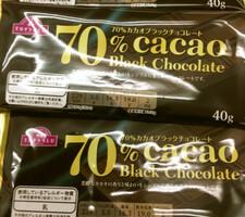 カカオ70%ブラックチョコ 98円(税抜)