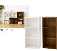 カラーボックス3段 各種 1,180円(税抜)