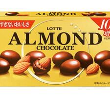 ロッテ アーモンドチョコレート10%増量 198円(税抜)