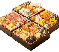 オリジナル和洋四段重[豊]ローストビーフ&カニ 16,830円(税抜)