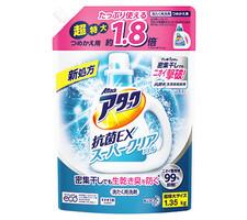 アタック 抗菌EXスーパークリアジェル 超特大詰替 338円(税抜)