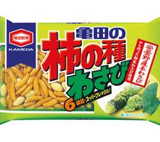 亀田 亀田の柿の種わさび6袋詰 188円(税抜)
