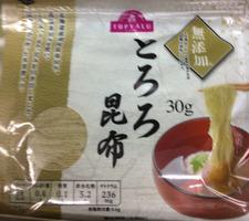 とろろ昆布 178円(税抜)
