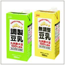 九州産大豆使用調整・無調整豆乳 138円