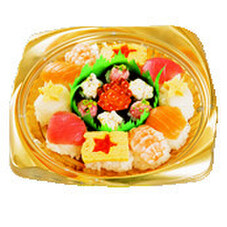 クリスマス手まり寿司 698円(税抜)