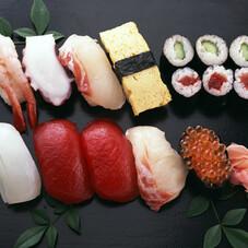 サーモンづくしお寿司盛合せ 780円(税抜)