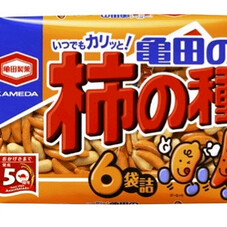亀田の柿の種6袋詰 188円(税抜)