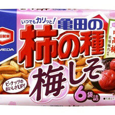 亀田の柿の種梅しそ6袋詰 188円(税抜)