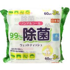 ノンアルコールウェットティッシュ 198円