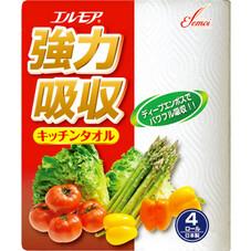 エルモア強力吸収キッチンタオル 118円