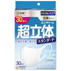 超立体マスクスタンダ-ド 30枚 各種 498円