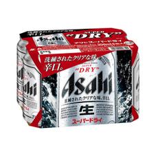 スーパードライ 350ml×6缶パック 1,037円(税抜)