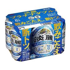 淡麗 プラチナダブル 350ml×6缶パック 697円(税抜)